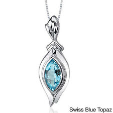 Oravo Sterling Silver Marquise-cut Gemstone Necklace