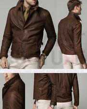 MASSIMO DUTTI (ZARA GROUP) SS15 NAPPA LEATHER JACKET BROWN REF.3335/304