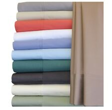 Solid Silky Soft Hybrid Bamboo Sheet Set, 100% Bamboo-Cotton King Bed Sheets