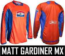 JT RACING PRO-TOUR MOTOCROSS MX JERSEY SHIRT ORANGE / BLUE retro evo classic new