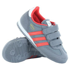 ADIDAS G95073 DRAGON CF Kids Boys Grey Athletic Casual Shoes Sneakers Velcro