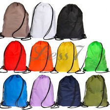 New Premium School Drawstring Duffle Sport Swim PE Gym Dance Shoes Backpack Bag