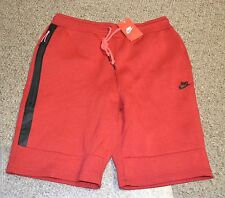 NIKE TECH FLEECE SHORTS 1mm RED 628984-695 MSRP $70