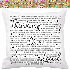 ❤ED SHEERAN LYRICS Cushion Wedding Anniversary Gift Valentines Christmas Love❤