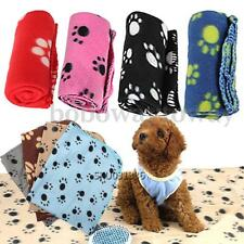 Cute Paw Print Soft Warm Pet Puppy Dog Cat Fleece Blanket Mat Cover 8 Colors