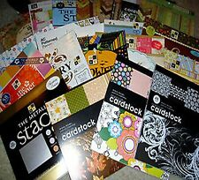 PAPER STACK Scrapbook Craft YOUR CHOICE Mambi DCWV K & Co Prima 12x12 Cardstock
