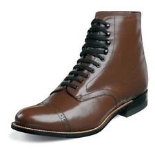 Mens Madison 00015 Brown Stacy Adams High top Boot Biscuit Cap Toe Lace SALE