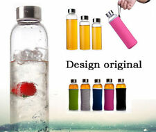 Fruit Glass Water Bottle Health Sports Bottle with Cover Case Korean Stylish new