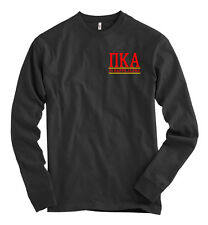 Pi Kappa Alpha AMERICAN APPAREL Black Long Sleeve T Shirt PIKE Letters NEW