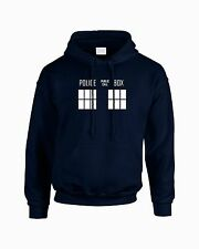 Police Box Dr Who Hooded Sweatshirt Hoodie Dalek Tardis BBC Doctor