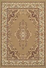 Traditional 112 J Beige Brown Budget KESHAN Rug in various sizes and runner