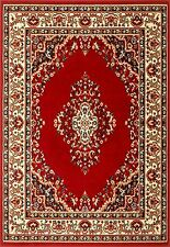 Traditional 112 R Red Beige Budget KESHAN Rug in various sizes and runner