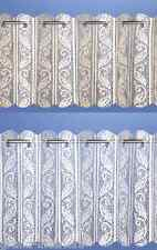 READY TO HANG WHITE/CREAM NET PLEATED VERTICAL BLIND CURTAIN PANEL 2 METRES WIDE