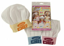 KIDS CHILDRENS CHEF HAT CLOTH COOKING BAKING CHEFS OUTFIT PLAY SET JUNIOR NEW