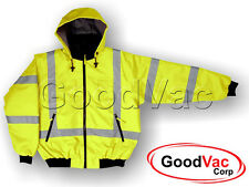 MAJESTIC 75-1331 High Visibility Fleece Lined Bomber Jacket ISEA ANSI 3 CZA Z96