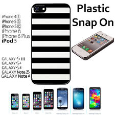 Black and White Bold Stripes Case For iPhone 4S/5/5S/5C/6/6+Galaxy S4/S5-Snap On