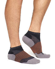 Tommie Copper Mens Compression Performance Athletic Ankle Socks Black White