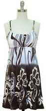 Beaded Tank Dress Racer Back SunDress BLUE PURPLE r GRAY BLACK Size S, M, L, XL