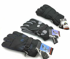 MENS BLACK THERMAL WINTER SPORTS SNOW SKI SNOWBOARDING THINSULATE GLOVES WARM
