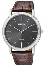 Citizen Eco-Drive Stiletto Leather Japan Sapphire Watch AR1110-02H AR1110-11H