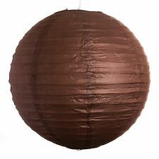 """Chocolate Paper Party Wedding Lanterns - 12"""", 16"""" and 20"""" sizes"""