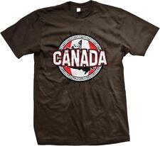 Canada Flag Crest Circle Design- Canadian Pride Nationality  Mens T-shirt