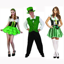 MENS LADIES LEPRECHAUN ST PATRICKS DAY SEXY LADY IRISH COSTUME FANCY DRESS