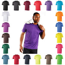 Mens Performance T Shirt Wickable Breathable Training Gym Sport Running Top Tee