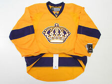 LOS ANGELES KINGS AUTHENTIC VINTAGE GOLD REEBOK EDGE 2.0 7287 HOCKEY JERSEY