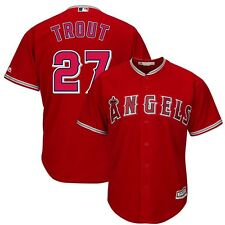 2015 Mike Trout Los Angeles Anaheim Angels Alternate Red Cool Base Jersey Men's