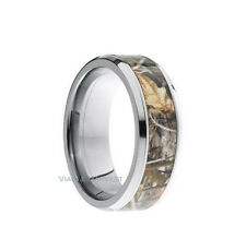 TITANIUM Unisex Oak Camo Wedding Ring New Hunting Camouflage Forest Band 8mm