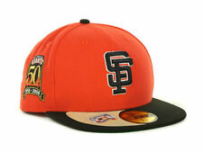 Official San Francisco Giants New Era 50th Anniversary Orange Black Fitted Hat