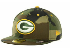 Official Green Bay Packers New Era NFL Camo Pop 59FIFTY FItted Hat