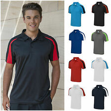 Mens Sports Polo Shirt Lightweight Breathable Wickable Running Training Gym