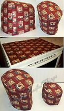 2 Piece Matching Cover Set for Kitchen Countertop Appliances (25 Themes)
