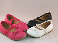 New Baby Toddler Flower Girls Dress Shoes Flats Easter Black,White,Pink