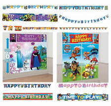 Disney Boy Girl Party Birthday Celebration Supply Swirls Decor Letter Banner New