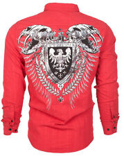 Archaic AFFLICTION Men BUTTON DOWN Shirt EAGLE SHIELD Roar BKE EXPRESS M-XXL $78