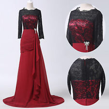 Gothic Vintage 40s 1950s Mother Long Ball Gown Evening Cocktail Party Prom Dress