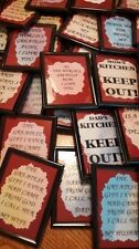 FAMILY FRIENDS FRIDGE MAGNETS SET #2 DAD GRANDMA MOM BROTHER DAUGHTER SISTER SON