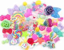 RAINBOW Brights Cute Cabochon Mix Set Decoden Kawaii Craft Kit  CHOOSE PACK SIZE