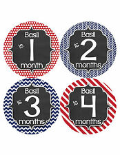 Personalized Baby Boy Monthly Stickers Custom Baby Name Boys Month Sticker 488