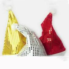 Christmas Party Gift  Xmas Coaplay Dress Decor Adult Santa Claus Sequins Cap Hat