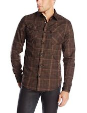 NWT Mens G-Star Raw Rackler Long Sleeve Shirt Raven Check Combat Brown M L XL