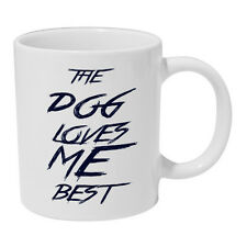 The Dog Loves Me Best Ceramic Mug pet coffee tea cup gift