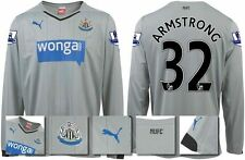 *14 / 15 - PUMA ; NEWCASTLE UTD AWAY SHIRT LS + PATCHES / ARMSTRONG 32 = SIZE*