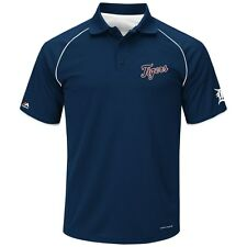 "Detroit Tigers Majestic MLB ""Bases Loaded"" Men's Performance Polo Shirt - Navy"