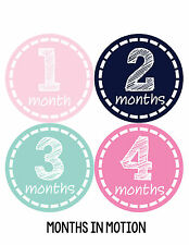 Baby Girl Monthly Baby Stickers 12 Month Age Sticker Just Born Photo #176