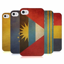 HEAD CASE VINTAGE FLAGS SET 5 SILICONE GEL CASE FOR APPLE iPHONE 4