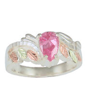 Black Hills Gold womens ring pink cubic zirconia cz sterling silver size 4-10
